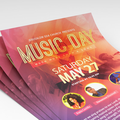 Music Day Flyer
